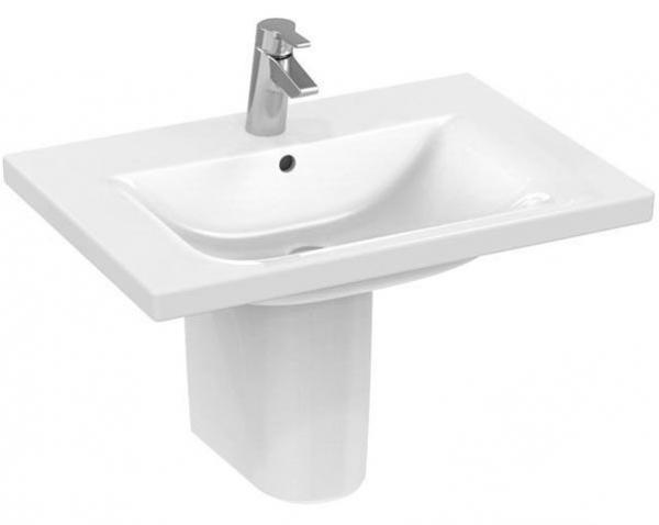 IDEAL STANDARD E8128MA CONNECT Möbelwaschtisch, weiß/Ideal Plus 70 x 49 cm, mit Hahnloch
