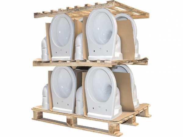 Wand-Tiefspül-WC Neo aus Keramik weiß, Palette mit 16 Stück