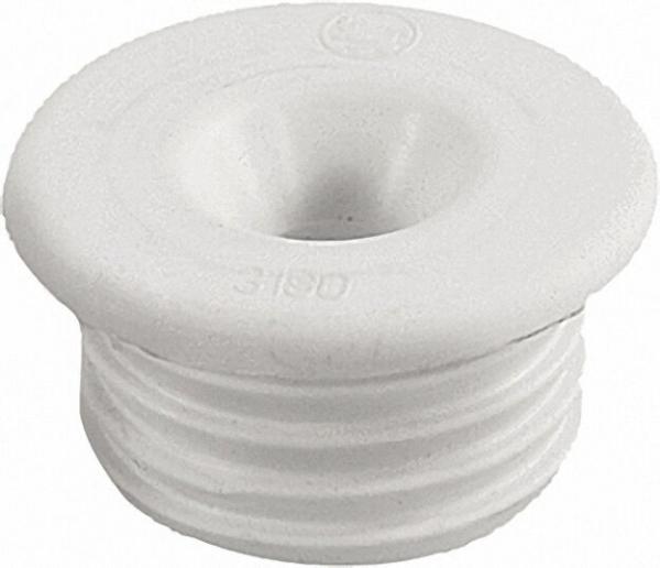 Gummi-Urinalverbinder für Urinaldruckspülrohre D 12-18mm D 35mm/ mit Rosette, hell