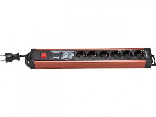 Steckdosenleisten 6-fach (PC-Leiste) mit Überspannungsschutz und Netzfilter (Vollschutz)