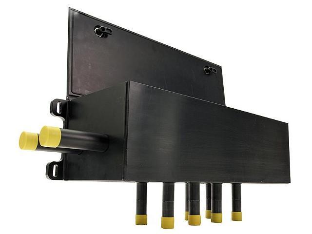 Soleverteiler Wand Schachtbox mit Durchflussanzeiger 4-20L/m Zulauf/Ab