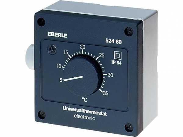 EBERLE Feuchtraum-Temperaturregler Typ AZT-A 524 410 -15 . . . 15°C mit Außenskala