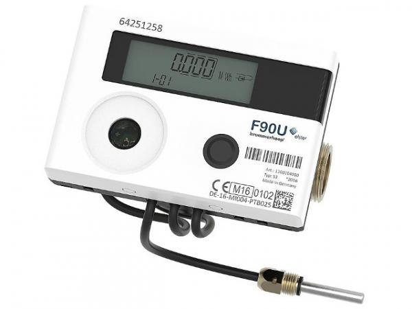 ELSTER Ultraschall-Wärmezähler F90U3 Qp0,6 DN15 110 mm, Rücklauf