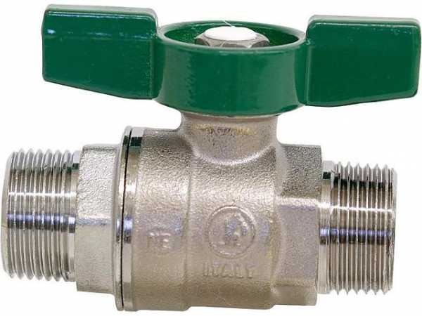Giacomini R253WX006 Trinkwasser-Kugelhahn R253D AG/AG 1 1/4' Messing verchromt/Flügelgriff