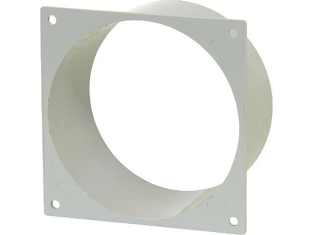60602 Anschlussstutzen L-AS 100 DN 100 aus Kunststoff weiß