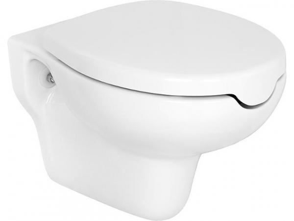 Wand-Tiefspül-WC Elida aus Keramik, weiß, mit Öffnung, BxHxT 375x370x560mm