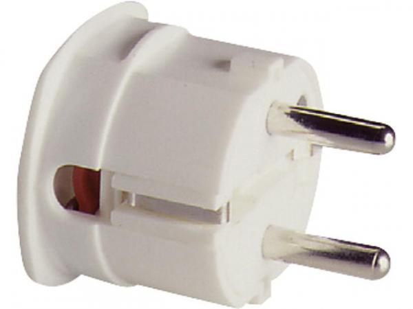 Winkel-Schukostecker weiß, 10-16A, 250V