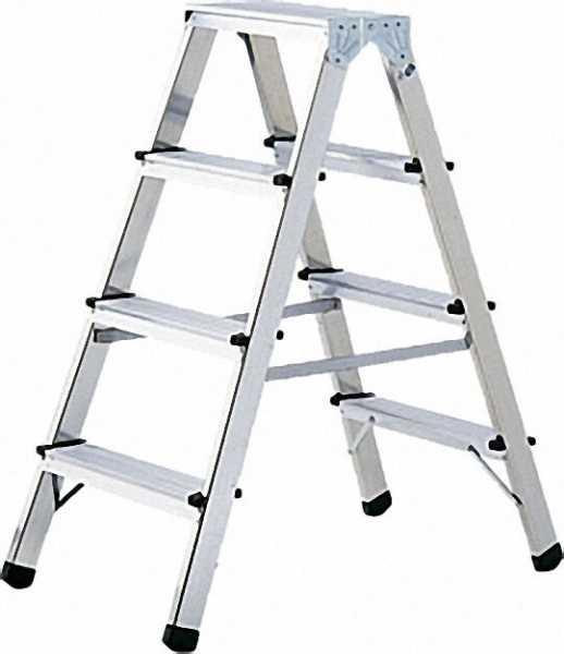 Doppelstufenleiter Aluminium 2 x 4 Stufen Höhe 90cm