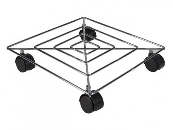 PFLANZENROLLER - STAHLDRAHT - QUADRATISCH - 300x300 mm - MAX. BELASTUNG 50 kg QT403