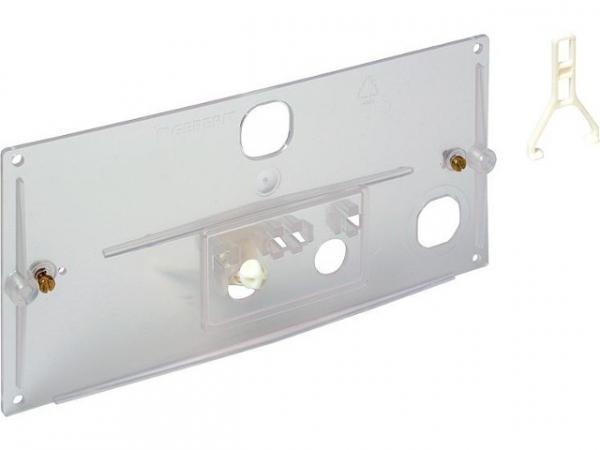 GEBERIT Transparente Schutzplatte mit Hebelmechanik und Bügel Referenz-Nr.: 240.026.00.1