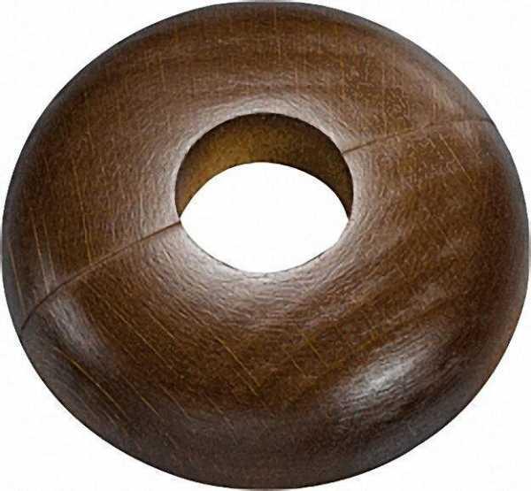 Holz-Einzelrosette Typ Schwarzwald Buche dunkel - 21,7mm