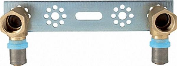 Pressfitting für MSVR Montageplatte mit 2 Fittings 16x2mm-1/2''