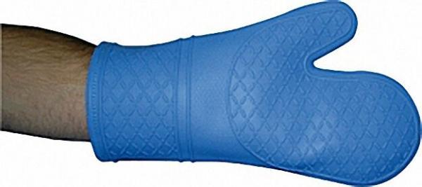 Hitzeschutzhandschuh Silikon, 30cm lang, hellblau links und rechts tragbar / 1 Stück
