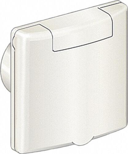 Saugdose Quadra 8 x 8 cm, Kunststoff RAL 9001, Cremeweiß