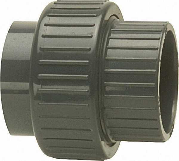 PVC-U - Klebefitting Rohrverschraubung, 25mm, beidseitig Klebemuffe