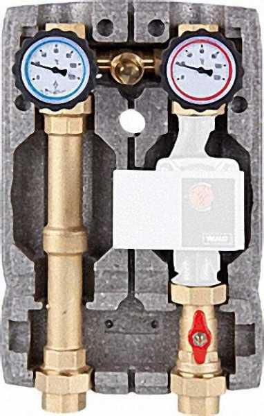 Heizkreisset Easyflow DN25 R1'' mit Isolierung ungemischt mit Überströmventil