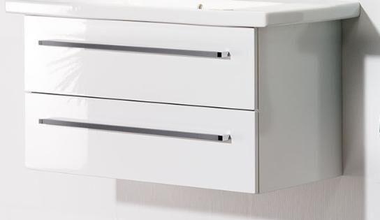 LANZET 7351312 C7 Waschtischunterschrank: 69x50x43 Weiß Connect 85cm