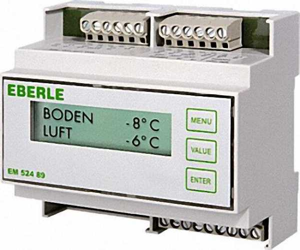 Eismelder EM 524 89 für Dach- rinnenbeheizung mit 1x Feuchte- und 1x Temperaturfühler