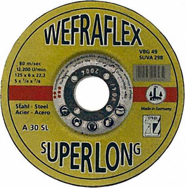 Schruppscheibe Super-Long für Stahl 115 x 6 x 22mm