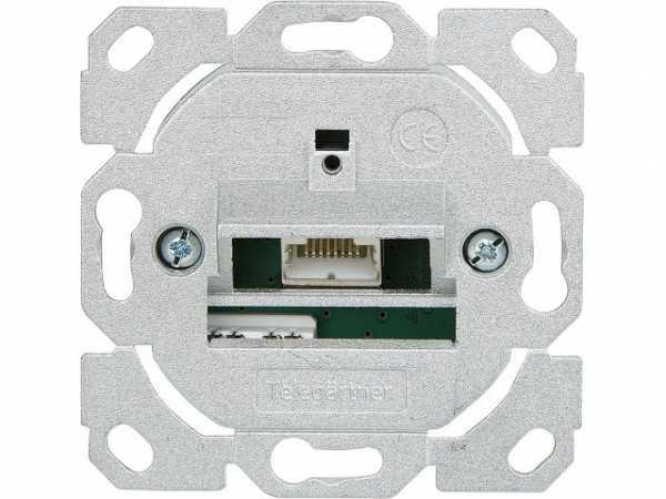 Anschlussdose AMJ45 8 K Up/0 Cat.6A(IEC) ohne Zentralplatte, 1 Stück