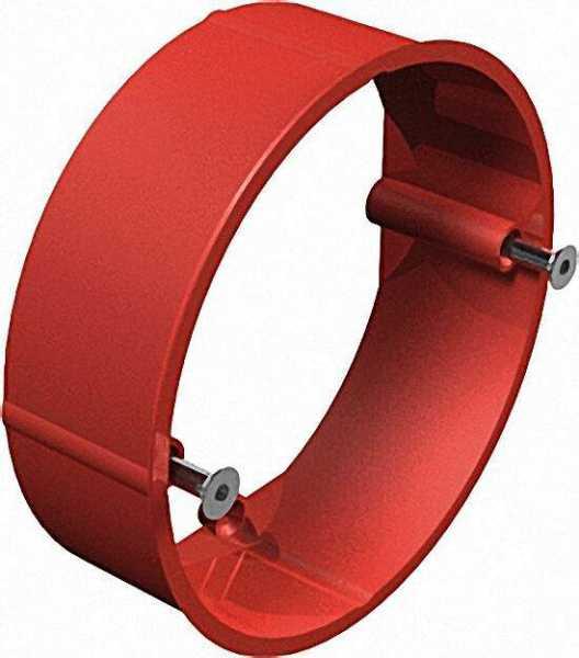 Putzausgleichsring Unterputz, D=70mm Typ UV 70 PA/24, rot / VPE 25 Stück