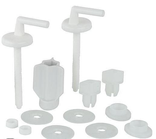 HARO WC-Scharnier Haro BO301Y Nylon,FastFixmutter,2-Punkt- Verstellung