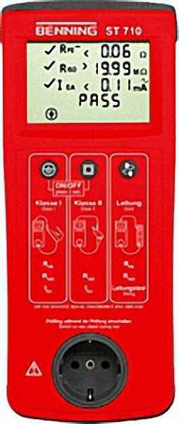 BENNING Gerätetester ST 710 inklusive Tasche