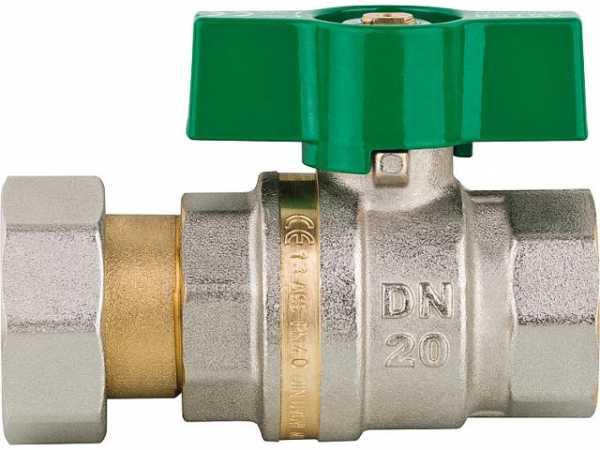 Messingkugelhahn, Aster ACS IG/ ÜW,DN15(1/2')xDN20(3/4') , Messing