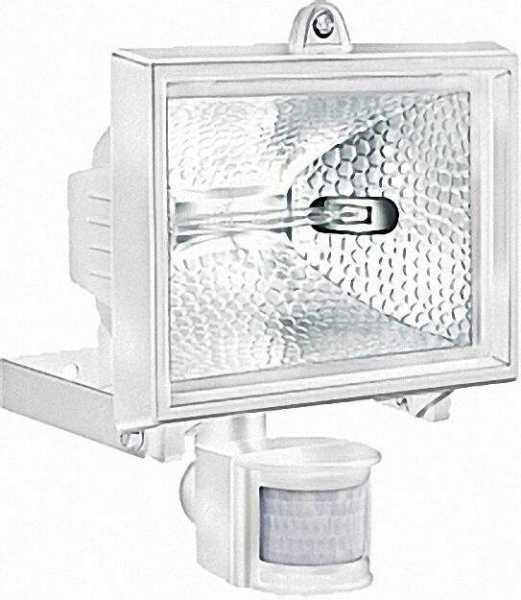 Außenleuchte 500 IP 44 mit Bewegungsmelder, 400 W Farbe: Weiß