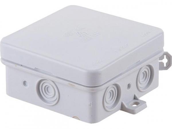VDE-Aufputz-Abzweigkasten flammwidrig / FR/AP grau 75x75x40mm, IP54