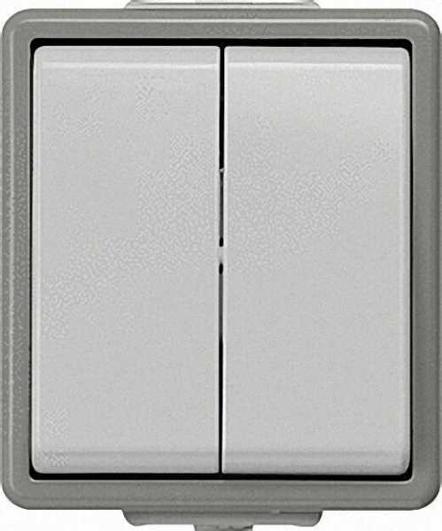 Aufputz-Serienschalter 75mm x 66mm x 54mm Schutzart IP44 / 1 Stück