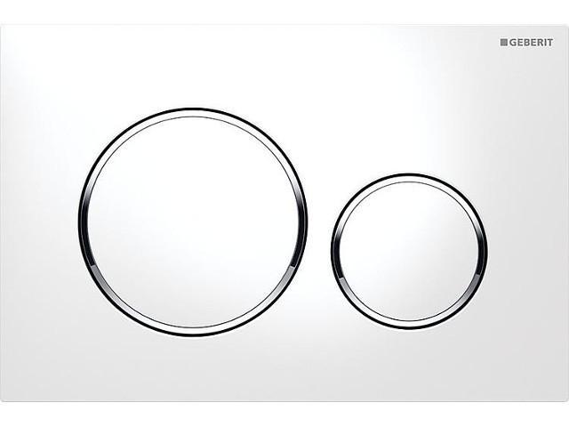 Betätigungsplatte Sigma 20 weiß/verchromt/weiß