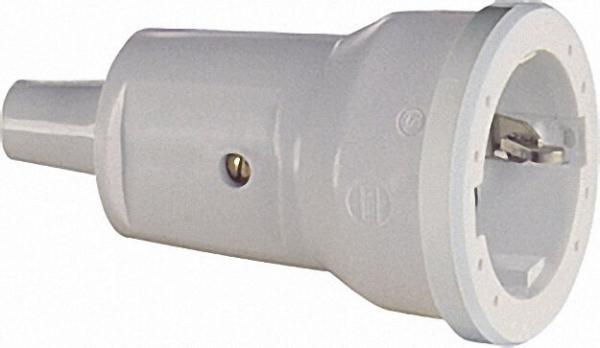 Schutzkontakt-Kupplung 2-polig - PVC 16A - 250V - schwarz