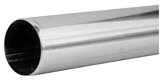 EVENES Kunststoff-Abgassystem Edelstahl Endrohr für Mündungs-Set, DN80, V2A, 1000mm