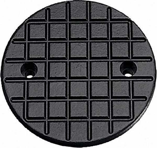Gummi-Hebebühnen-Auflage Ausführung rund, schwarz D=120mm außen