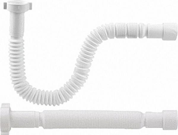 Flexibler Anschluss-Schlauch 1 1/4''x32/40mm gerade Länge 383-870mm