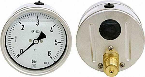 Glyzerinmanomenter, 0-10 bar, 100 mm für G1/2