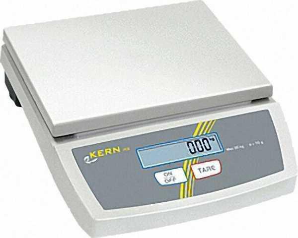 KERN & SOHN Tischwaage FCE 6K2 max. 6 kg, Einteilung 2 g Gesamtgewicht: 3, 5 kg