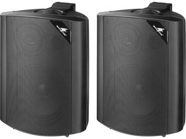 2-Wege Lautsprecherboxset 60W, schwarz