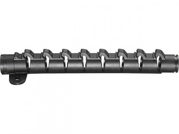 MEGARO Rasterbogen flipflex für 15/16mm Rohr Fixierhalter, Fixierhalter Befür möglich, mit Befestigungslasche