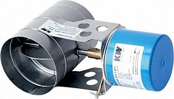 KW-Abgasklappen MOK 150 Baulänge 175-150mm inklusive Motor STA 2 (S1)