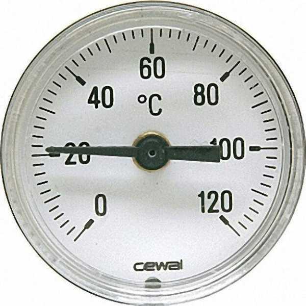 Thermometer passend zu Eckkugelhahn 0-120°