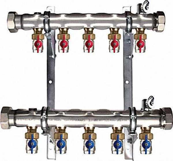 Soleverteiler 2'' für 10 Solekreise Baulänge 840mm