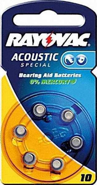 Hörgerätebatterie V10AT 6er Blister