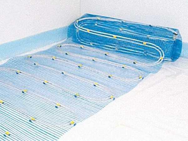 Heizmatte 7, 5 m² (3x2, 5) Aquaheat Doppelrohrsystem
