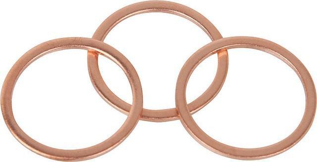 Kupfer - Dichtringe zöllig 3/4'' 31, 9 x 27, 3 x 1,5mm stark