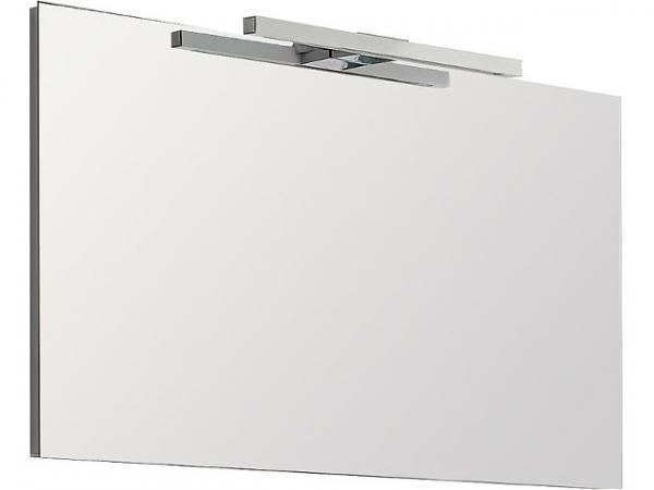 Spiegel mit Beleuchtung Halogen 2x25 Watt 1200x75 mm