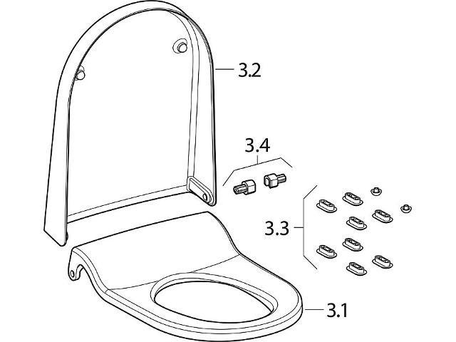 Wc-sitz und WC-Deckel zu Geberit AquaClean Sela weiß-alpin