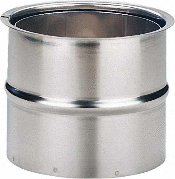 Edelstahl-Wandfutter doppelt 150mm - VPE = 2 Stück
