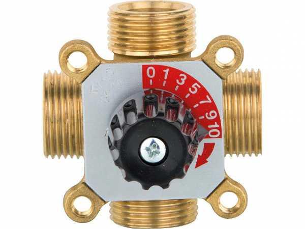 4-Wegemischer Easyflow Mix 451 DN25(1')AG, KV6,0, Messing